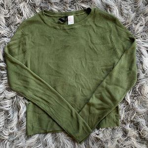 H&M Olive Long Sleeve Tee